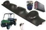"Bush Hog Trail Hunter Rockford R152 & PBR300X4 Amp Quad (4) 5 1/4"" Speakers UTV Pod Package"