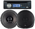 "Boss 647CK - 647UA CD/MP3 AM/FM Receiver With USB and SD Memory Card Ports Plus one Pair of 6.5"" Speakers"