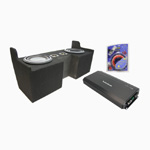 "Rockford Fosgate 04-12 Chevy Colorado Extended Cab Truck Dual 10"" P3SD210 Amplified Sub Box w/ R500-1 Amplifier & Kit"