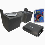"Rockford Fosgate 04-12 Chevy Colorado Extended Cab Truck Dual 10"" R1S410 Amplified Sub Box w/ R250-1 Amplifier & Kit"