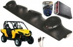 "Can-Am Commander Rockford R152 & PBR300X4 Amp Quad (4) 5 1/4"" Speakers UTV Pod Package"
