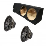 "Ford F-150 Super Crew Truck 01-03 Dual 12"" Kicker CVR12 1600 Watt Subwoofer Enclosure Loaded Sub Box"