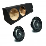 "Ford F-150 Super Crew Truck 01-03 Dual 10"" Kicker CVT10 1600 Watt Subwoofer Enclosure Loaded Sub Box"