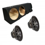 "Ford F-150 Super Crew Truck 01-03 Dual 10"" Kicker CVR10 1600 Watt Subwoofer Enclosure Loaded Sub Box"