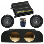 "Infiniti G35 Coupe 03-14 Dual 10"" Kicker CVT10 Subwoofer Enclosure Sub Box with CX600.1 Amplifier & Amp Kit"
