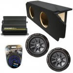 "Scion TC Coupe 05-10 Dual 12"" Kicker CVR12 Subwoofer Enclosure Sub Box with CX600.1 Amplifier & Amp Kit"