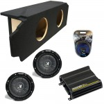 "Scion TC Coupe 05-10 Dual 10"" Kicker CVT10 Subwoofer Enclosure Sub Box with CX600.1 Amplifier & Amp Kit"