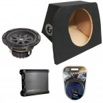 "Mazda Miata MX-5 90-05 Single 10"" Kicker Comp CVR10 Subwoofer Enclosure Sub Box with DX500.1 Amplifier & Amp Kit"