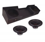 "Power Acoustik RW1-10 Sub 99-06 GMC Sierra Extended Truck Loaded Dual 10"" Armor Coated Sub Box Subwoofer Enclosure"