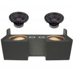 "Power Acoustik CW2-124 Sub Chevy Colorado Ext Cab Truck 04-12 Loaded Dual 12"" Sub Box Subwoofer Enclosure"