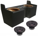"Power Acoustik CW2-124 Sub GMC Canyon Ext Cab Truck 04-12 Loaded Dual 12"" Sub Box Subwoofer Enclosure"