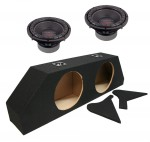 "Power Acoustik CW2-104 Sub Chevy Camaro Coupe 10-13 Loaded Dual 10"" Sub Box Subwoofer Enclosure"
