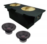"Power Acoustik CW2-104 Sub Chevy Camaro Coupe 93-02 Loaded Dual 10"" Sub Box Subwoofer Enclosure"