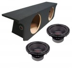 "Power Acoustik CW2-104 Sub Jeep Wrangler Unlimited 07-13 Loaded Dual 10"" Sub Box Subwoofer Enclosure"