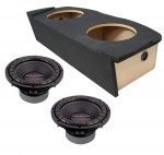"Power Acoustik CW2-104 Sub Nissan 350Z Coupe 03-08 Loaded Dual 10"" Sub Box Subwoofer Enclosure"
