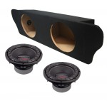 "Power Acoustik CW2-104 Sub Ford Mustang 94-04 Coupe Loaded Dual 10"" Sub Box Subwoofer Enclosure"