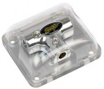 Stinger SPD510 Chrome Distribution Block (3) 8 Gauge Inputs or Outputs (T-Block)