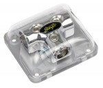 Stinger SPD512 Chrome Distribution Block (3) 1/0 Gauge Inputs or Outputs (T-Block)