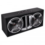 "Pyle Car Stereo PLPPS210 Dual 10"" Slim Design Foward Vented High-Power Subwoofer Speakers Enclosure System"