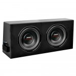 Pyle Car Stereo PLPR210A Dual 10'' Slim-Design Hi-Powered Amplified Subwoofer Enclosure System