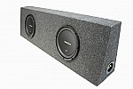 "Rockford Fosgate Dual 10"" R1S410 Loaded Regular Cab Truck Sub Box Package"