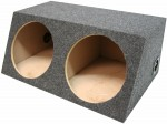 "Dual 15"" Subwoofer Box Sealed Enclosure (Gray)"