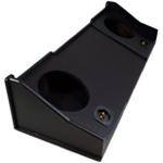 "Dodge Ram Extended & Crew Cab 1998 - 2001 Dual 10"" Custom Subwoofer Box Enclosure (Textured Black)"