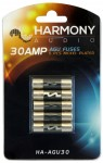 Harmony Audio HA-AGU30 Stereo Fuseholder 5 Pack 30 Amp AGU Fuses - Nickel Plated
