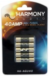 Harmony Audio HA-AGU40 Stereo Fuseholder 5 Pack 40 Amp AGU Fuses - Nickel Plated