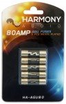 Harmony Audio HA-AGU80 Stereo Fuseholder 5 Pack 80 Amp AGU Fuses - Nickel Plated