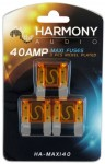Harmony Audio HA-MAXI40 Stereo Fuseholder 3 Pack 40 Amp MAXI Fuses - Nickel Plated