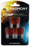 Harmony Audio HA-MAXI50 Stereo Fuseholder 3 Pack 50 Amp MAXI Fuses - Nickel Plated