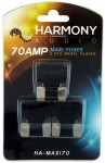 Harmony Audio HA-MAXI70 Stereo Fuseholder 3 Pack 70 Amp MAXI Fuses - Nickel Plated