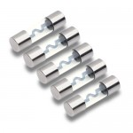 T-SPEC V8-AGU50 Heavy Duty Nickel Plated 50 Amp AGU Style Fuse - Pack of 5