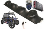 "Heathen V Twin Rockford R152 & PBR300X4 Amp Quad (4) 5 1/4"" Speakers UTV Pod Package"