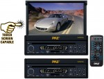 "Pyle Car Audio PLTS73FX 7"" In-Dash Motorized Touchscreen LCD Monitor with DVD & USB/SD Player"