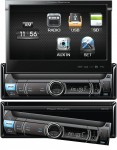 "Power Acoustik PDR-780 Flip-Up Motorized 7"" LCD Screen In-Dash Digital Media Receiver"