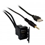 Axxess AX-USB-35EXT 6 Ft High Performance iPod to USB/3.5 mm Extension Cable