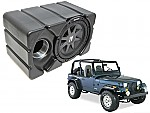 "Jeep Wrangler Kicker CVR10 Loaded Car Stereo Custom Fit 10"" Subwoofer Enclosure Box"
