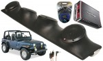 "Jeep Wrangler YJ TJ JK Rockford R152 & PBR300X4 Amp Quad (4) 5 1/4"" Speaker Sound Bar Pod"