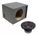 """Power Acoustik CW2-104 Sub Car Stereo Single 10"""" Crypt Ported Subwoofer Box Loaded Enclosure Package"""