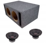 "Power Acoustik CW2-104 Sub Car Stereo Dual 10"" Crypt Slot Ported Subwoofer Box Loaded Enclosure Package"