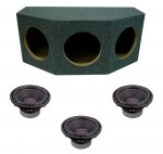 "Power Acoustik CW2-104 Sub Car Stereo Loaded Triple 10"" Crypt Sealed Subwoofer Box Enclosure Package"