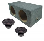 "Power Acoustik CW2-104 Sub Car Stereo Dual 10"" Crypt Sealed Rearfire Loaded Subwoofer Box Enclosure Package"