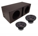 "Power Acoustik CW2-104 Sub Car Stereo Dual 10"" Crypt Armor Coated Ported Subwoofer Box Loaded Enclosure Package"