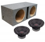 "Power Acoustik CW2-104 Sub Car Stereo Dual 10"" Crypt Ported Subwoofer Box Loaded Enclosure Package"