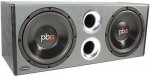 "Powerbass PS-WB10 Dual 10"" Loaded Enclosure with Bass Reflex Dual Port System"