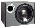 "Powerbass PS-WB112 Single 12"" Loaded Enclosure with Double Treated Foam Surround"