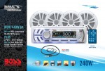 Boss MCK1440W.64 Package Includes AM/FM/CD/MP3 Marine Receiver w/ Four Speakers