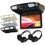 "Planet Audio P12.1ES 12.1"" All-In-One Flip Down TFT Overhead Multimedia Player w/Built-in IR & FM Modulator"